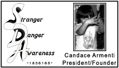 March 2012 WOW Gal Candace Armenti, Founder or Stranger Danger Awareness